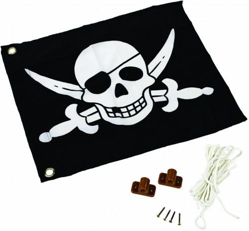 КВТ žaislinė piratų vėliava (pakėlimo mechanizmas), 55x45 cm