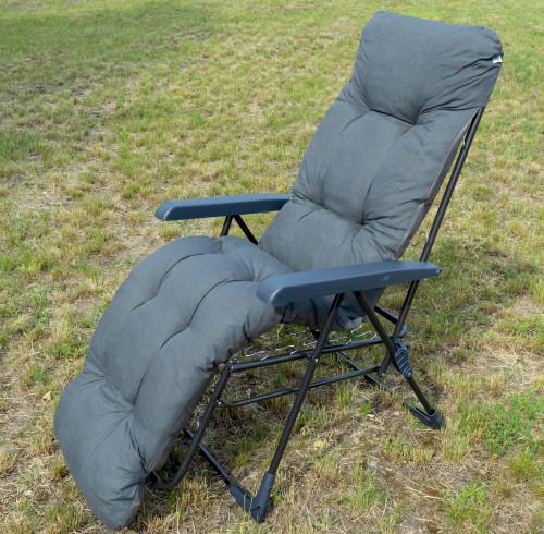 Кресло MALAGA PLUS удлиненное 59x152 см, серое