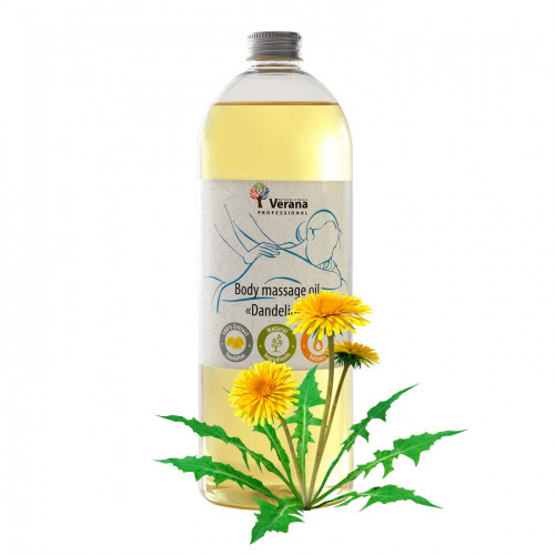Body massage oil Verana Professional, Dandelion 1 liter