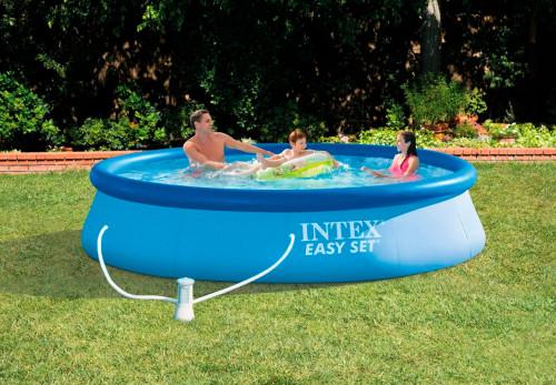 Pripučiamas baseinas Intex Easy Set Pool 366x76 cm, su filtruojančiu siurbliu (28132)