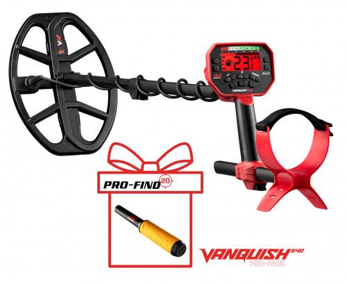 Metalo detektorius Minelab Vanquish 540 Pro-Pack + PRO-FIND 20 PinPointer