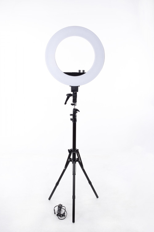 Ring LED lamp for photo and video shooting Ø46 cm, 50W (9601LED-18)