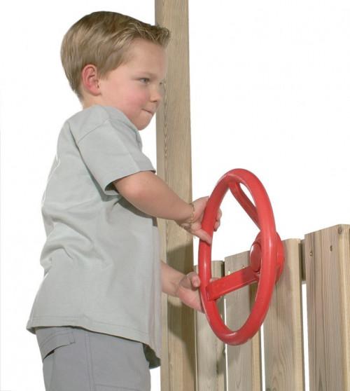 Детский руль с креплениями,, КВТ, Ø 300 mm, красный
