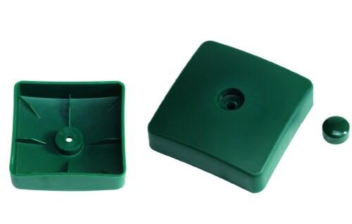 Plastikinis dangtelis kvadratinėms sijoms, 100х100 mm, žalias