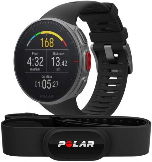 Sportinius laikrodžius POLAR VANTAGE V BLACK su antkrūtininiu pulsometru Polar H10