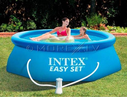 Pripučiamas baseinas Intex Easy Set Pool 244x76 cm, su filtruojančiu siurbliu (28112)