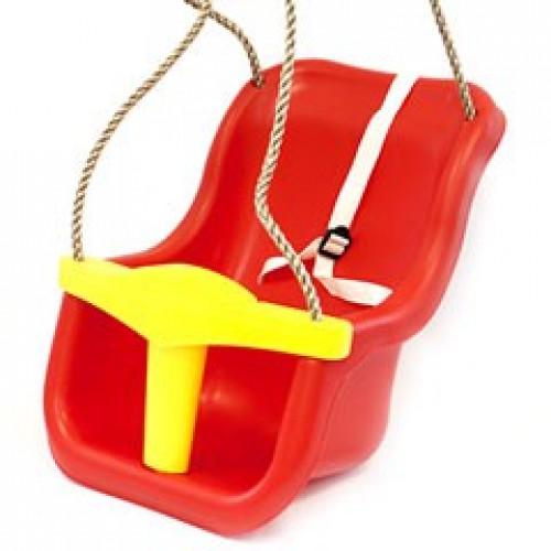 Vaikiškos supynės su apsauga КВТ Luxe, raudonai gelsvos