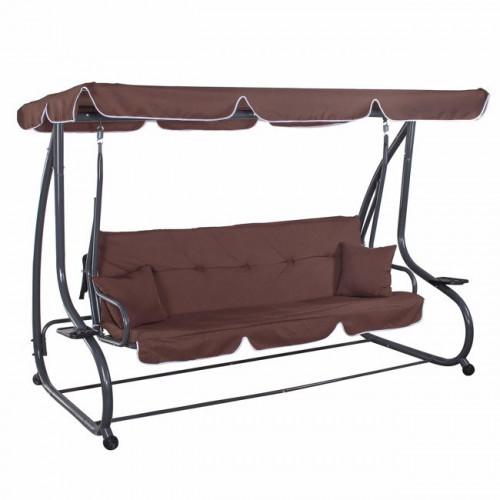 Supynės-sofa, 230x120 cm, 4-vietės, rudos