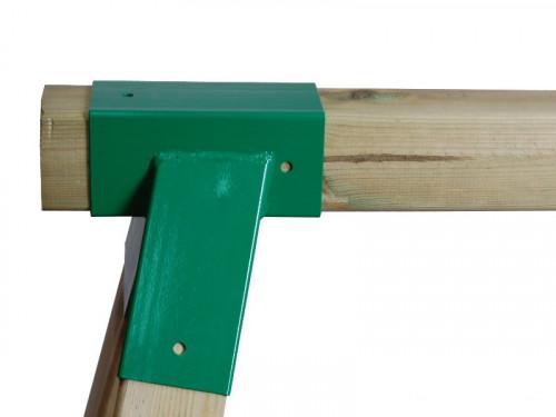 """Just Fun supynės tvirtinimas """"Kvadratinis"""", 90x90 mm, žalias, metalinis"""