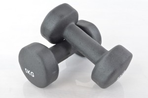 Two vinyl dumbbells 5kg
