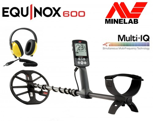 Metalo Detektoriai Minelab Equinox 600 + Waterproof Headphones