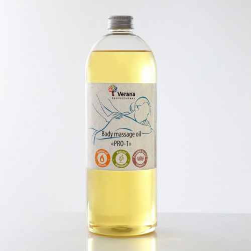 Body massage oil Verana Professional PRO-1, 1 liter (without aroma)