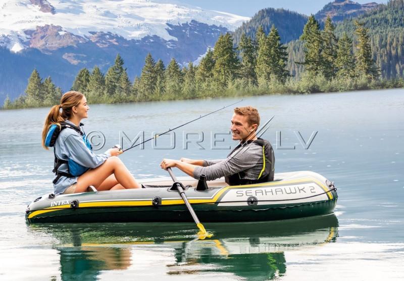 Pripučiama guminė valtis Intex SEAHAWK 2 BOAT SET (236х114х41)