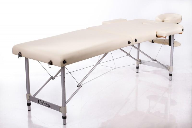 Sulankstomas masažo stalas – kušetė RESTPRO® ALU 2 (M) Cream