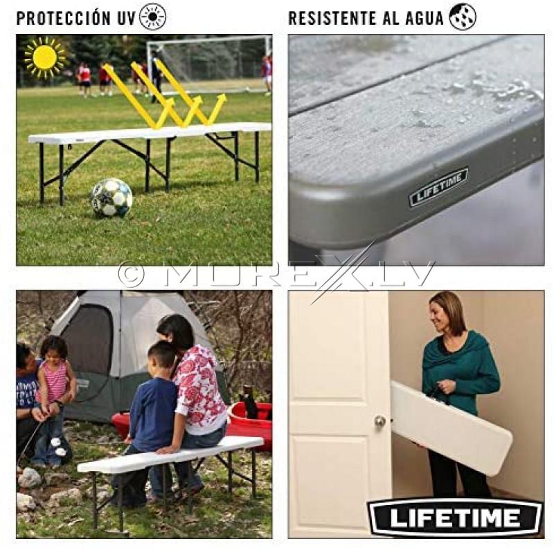 Lifetime 80305 Sulankstomas suoliukas 183x29 cm