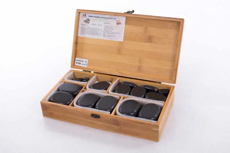 Hot Stone Therapy – Professional Set of 45 Stones