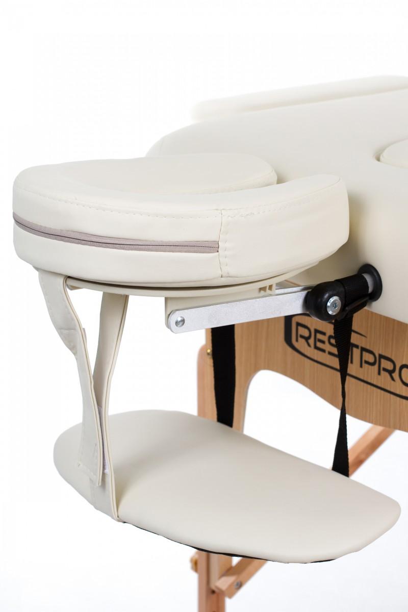 RESTPRO® VIP 2 CREAM Massage Table + Massage Bolsters