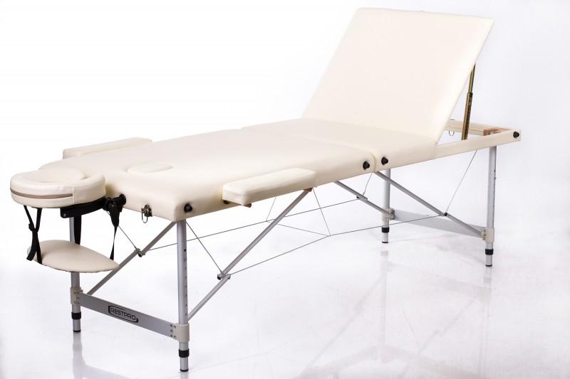 RESTPRO® ALU 3 Cream sulankstomas masažo stalas