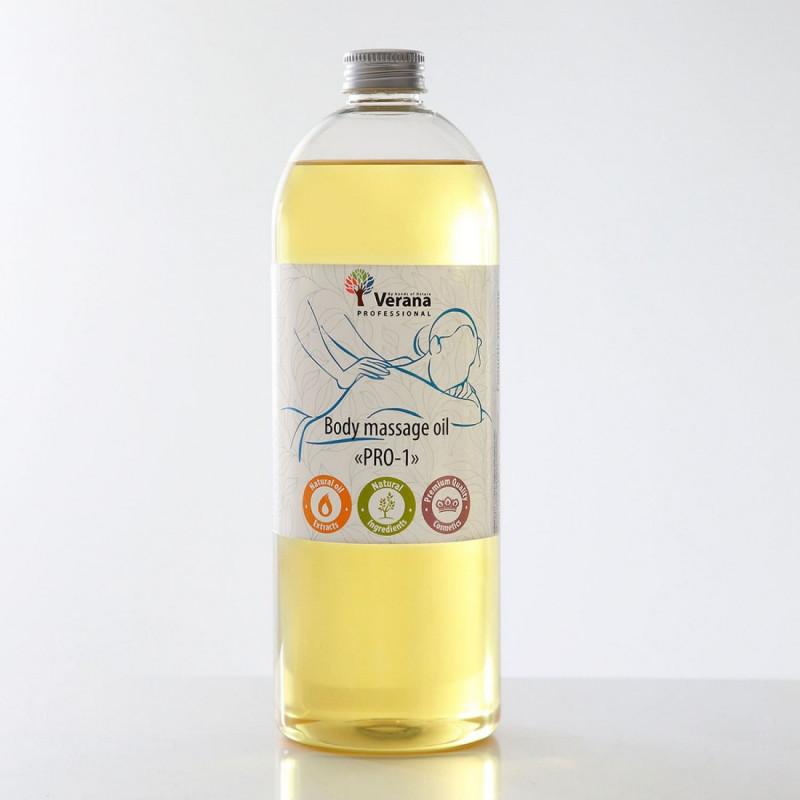 Body massage oil Verana Professional PRO-1, 1 liter (without aroma)